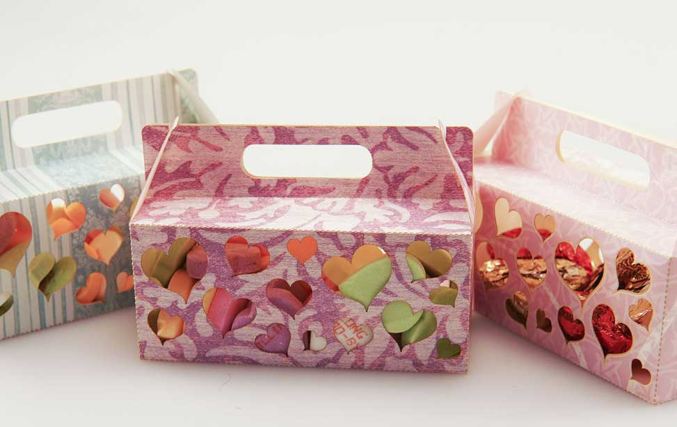 Lasergravierte Candy-Box