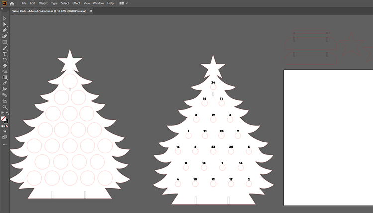 Advent tree files in illustrator